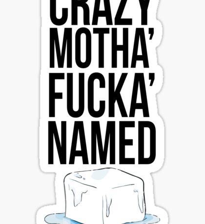 Ice Cube Black Sticker