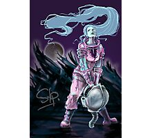 Cosmonaut Soldier On The Moon - Comics Character Photographic Print