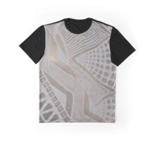Grey on brown tribal design Graphic T-Shirt