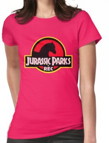 Jurassic Parks and Rec Clean Womens Fitted T-Shirt