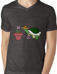 Gardener Turtle Mens V-Neck T-Shirt