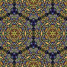 Psychedelic jungle kaleidoscope ornament 10 by Andrei Verner