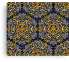 Psychedelic jungle kaleidoscope ornament 10 Canvas Print