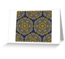 Psychedelic jungle kaleidoscope ornament 10 Greeting Card