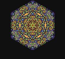 Psychedelic jungle kaleidoscope ornament 10 Unisex T-Shirt
