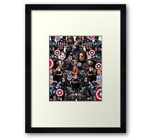 Bucky Barnes and Steve Rogers Collage Framed Print