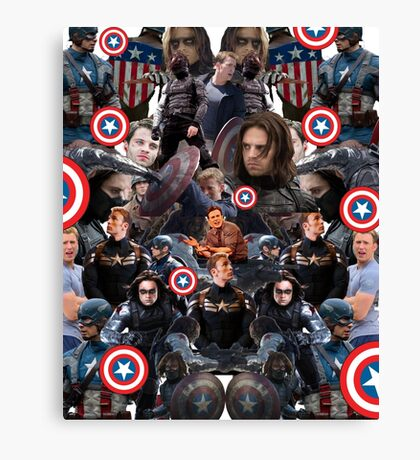 Bucky Barnes and Steve Rogers Collage Canvas Print