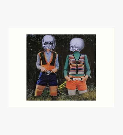 Skeleton Girls Art Print
