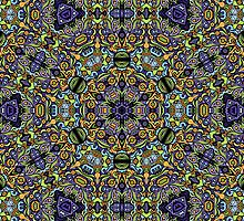 Psychedelic jungle kaleidoscope ornament 11 by Andrei Verner