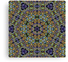 Psychedelic jungle kaleidoscope ornament 11 Canvas Print