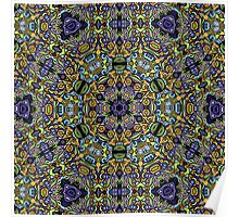Psychedelic jungle kaleidoscope ornament 11 Poster