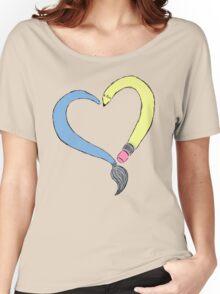 Peace, Love & Art Women's Relaxed Fit T-Shirt