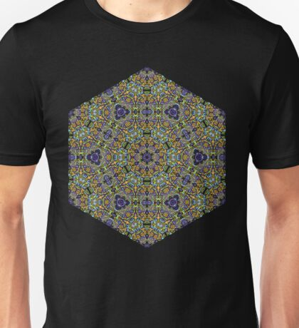Psychedelic jungle kaleidoscope ornament 11 Unisex T-Shirt