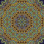 Psychedelic jungle kaleidoscope ornament 12 by Andrei Verner