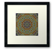 Psychedelic jungle kaleidoscope ornament 12 Framed Print
