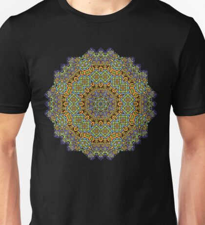 Psychedelic jungle kaleidoscope ornament 12 Unisex T-Shirt