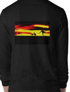 Kangaroos silhouettes at Sunset Long Sleeve T-Shirt
