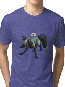 Tomu the Silver Fox (blue) Tri-blend T-Shirt
