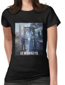 12 Monkeys TV Series Womens Fitted T-Shirt