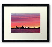 Perth from Applecross Jetty Framed Print