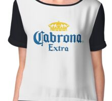 Cabrona Extra Funny Beer Logo Chiffon Top