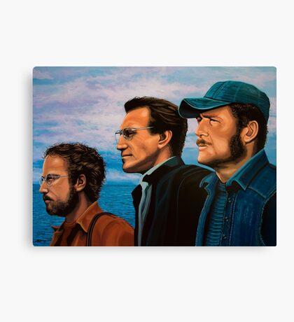 Richard Dreyfuss, Roy Scheider and Robert Shaw in Jaws Canvas Print