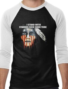 I Stand With Standing Rock Sioux Tribe T-Shirt Men's Baseball ¾ T-Shirt