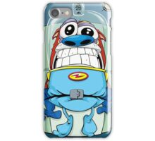 Stimpy's launch Ren and Stimpy Show iPhone Case/Skin