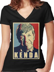 joe kenda Women's Fitted V-Neck T-Shirt