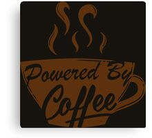 Powered By Coffee Canvas Print