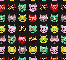 Cats with Mustaches by tinaodarby