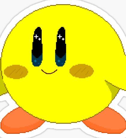 Yellow Kirby Sticker