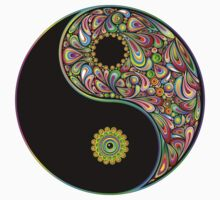 Yin Yang Symbol Psychedelic Art Design Kids Clothes