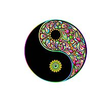 Yin Yang Symbol Psychedelic Art Design Photographic Print
