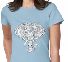 Elephant with Ornate Tribal Tattoo  Womens Fitted T-Shirt