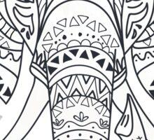 Elephant with Ornate Tribal Tattoo  Sticker