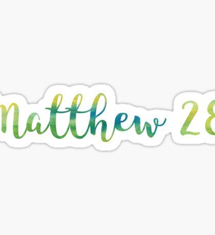 Matthew 28:19 Sticker