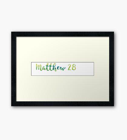 Matthew 28:19 Framed Print