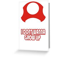 I Don't Wanna Grow Up T-Shirt Funny New Olds School TEE College Humor Gamer Nerd Greeting Card