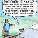 Dog car ride by David Stuart