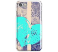 AT LAST (BLOCK 9: BLUE HEART) - MIX AND MATCH!!! iPhone Case/Skin