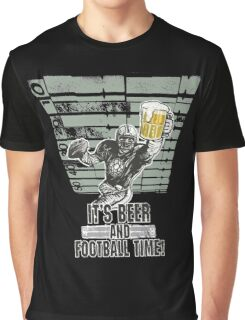 It's beer and Football Time Graphic T-Shirt