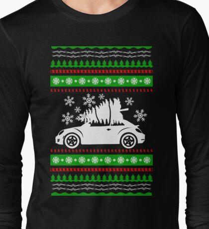 Car Bug and Pine Ugly Christmas Sweater Long Sleeve T-Shirt