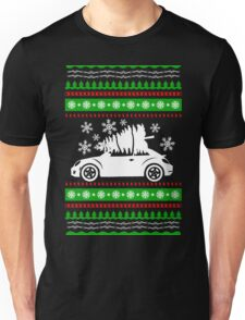 Car Bug and Pine Ugly Christmas Sweater Unisex T-Shirt