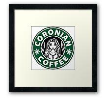 Coronian Coffee Framed Print