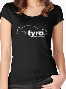 Support Tyro Racing go to tyroracing.com and donate Women's Fitted Scoop T-Shirt