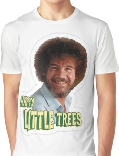Bob Ross No Mistake Just Happy Little Trees Painter Design Graphic T-Shirt