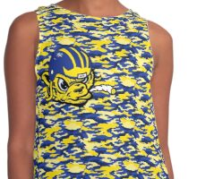Wolverines - Army Print Contrast Tank