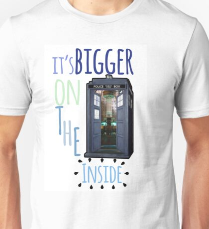 It's bigger on the inside - Tardis Unisex T-Shirt