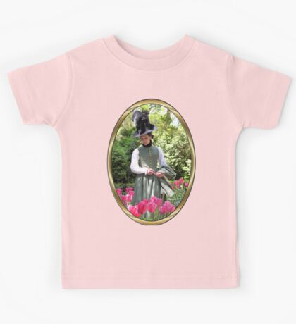 A Colonial Lady in Her Garden Kids Tee